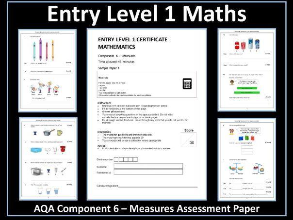 AQA Entry Level Maths Assessment - Measures