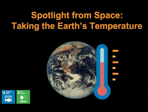 Spotlight From Space PowerPoint presentation
