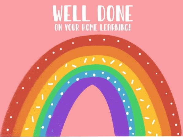 Home Learning Well Done Certificate Postcard