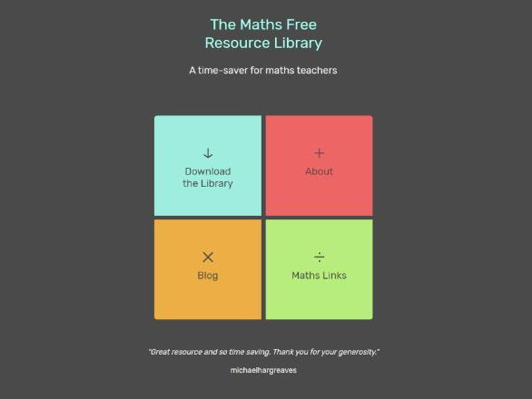 Maths - Free Resource Library