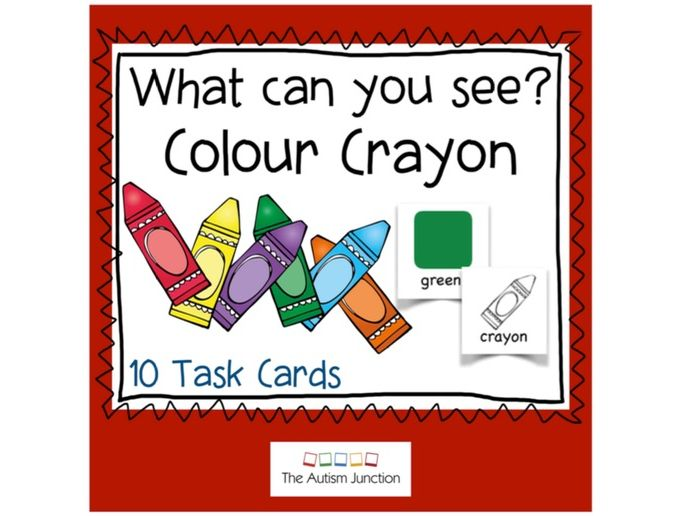What can you see? Colour Crayons UK version