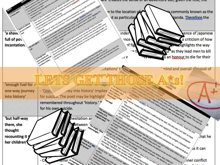 AQA Power and Conflict Poetry English Literature GCSE