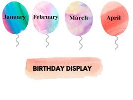 Balloon Birthday Display