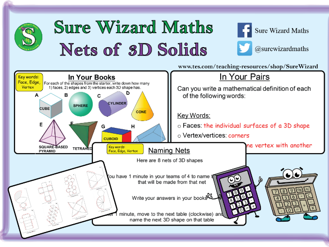 Nets of 3D Solids (KS3)