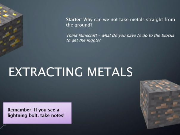 KS3 Earth and Atmosphere - Extracting Metals [Including Lesson Plans]
