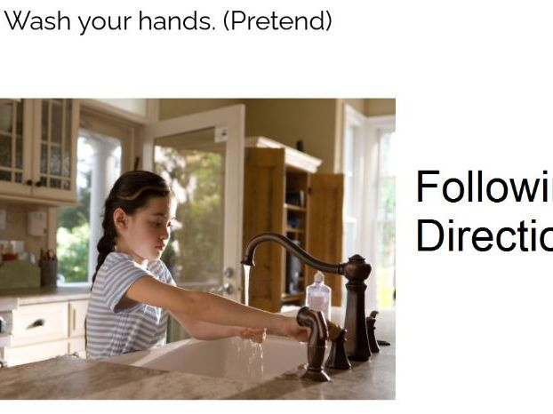 Follow 1-2 step directions at your desk: and/before/after