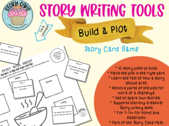 Build a Plot - Card Game for Story writing, identify parts of a plot, learn the arch of a story.