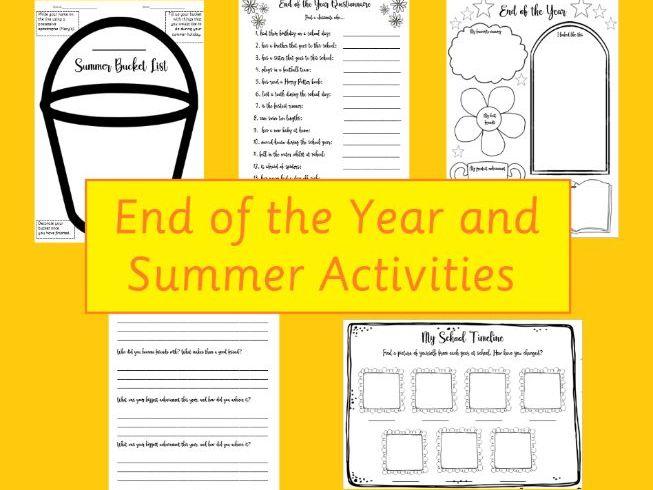 End of School Timeline Photo Activity KS1/2