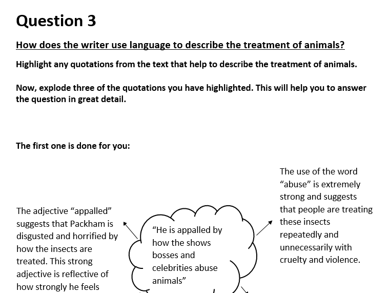AQA Lang Paper 2 Sect A Revision Booklet
