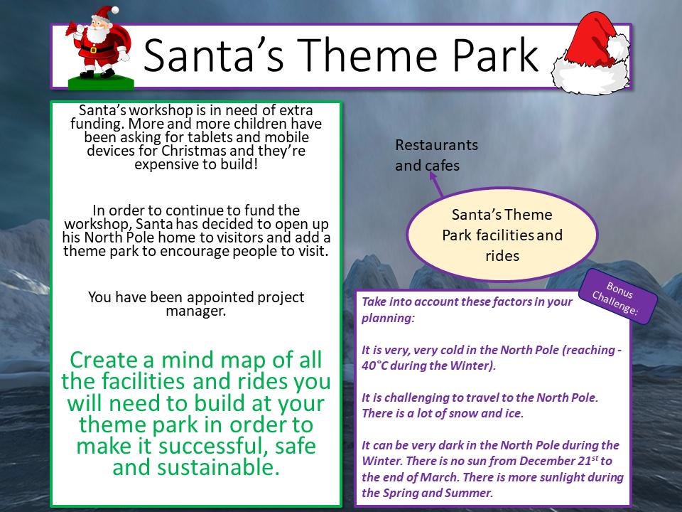 Christmas Travel Writing - Santa's Theme Park