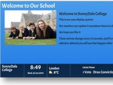 The Message Wall - free digital signage for schools