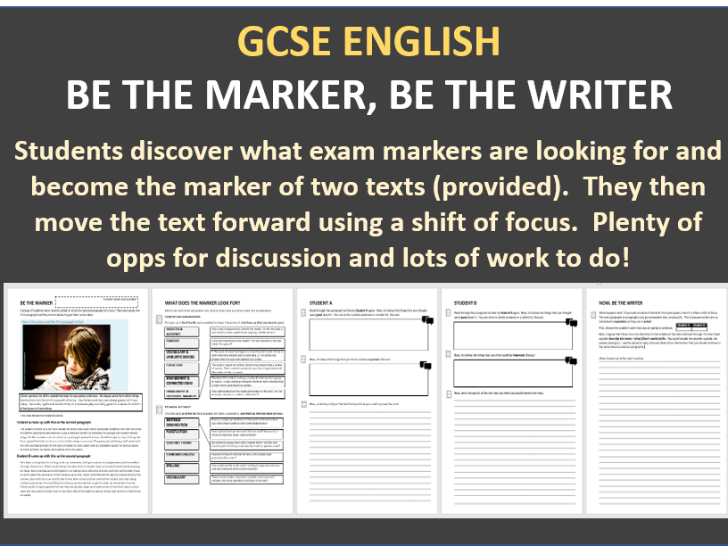 GCSE English Paper 1 Question 5 - Be the Marker, Be the Writer