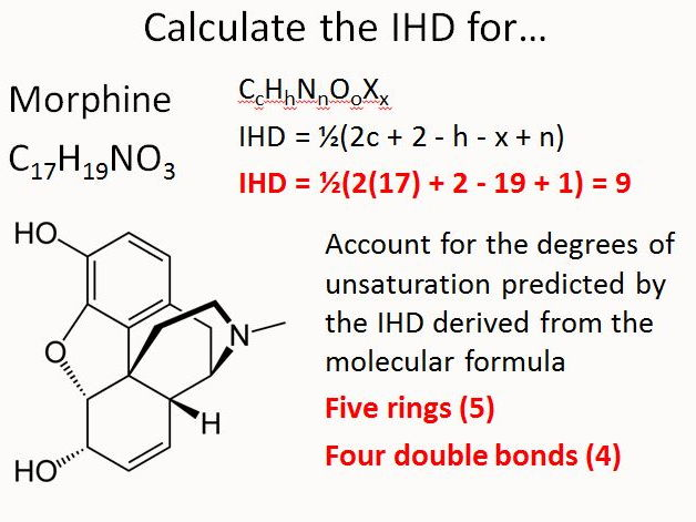 index of hydrogen deficiency  ihd  for ib by gerwynb