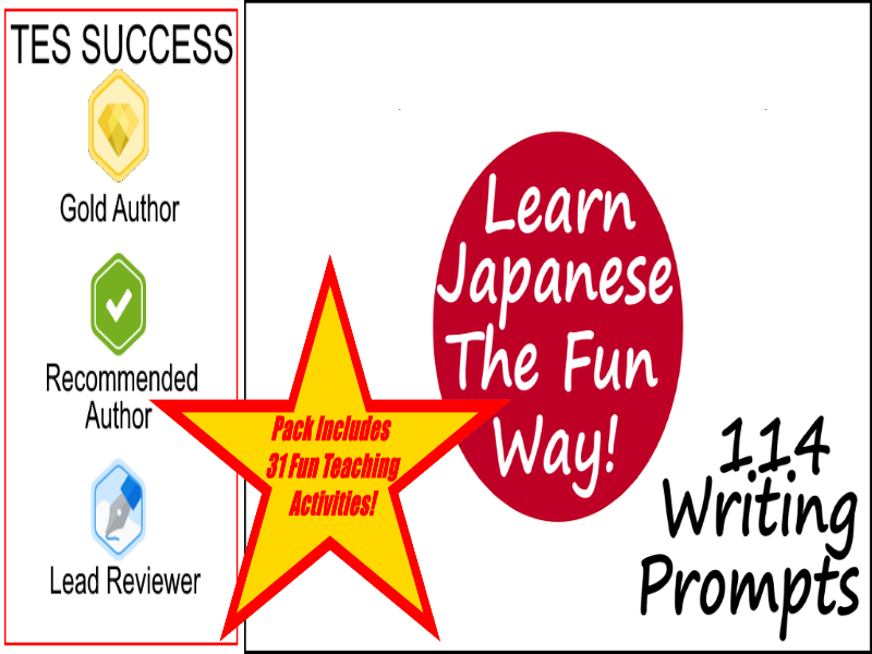 114 Japanese Writing Worksheets For Writing Practice + 31 Fun Teaching Activities For These Cards