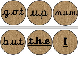 Phase 2-5 Tricky words and High Frequency words on Hessian Disks (editable)