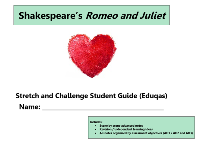 GCSE 9-1 Romeo and Juliet Eduqas Scheme of Work / Learning