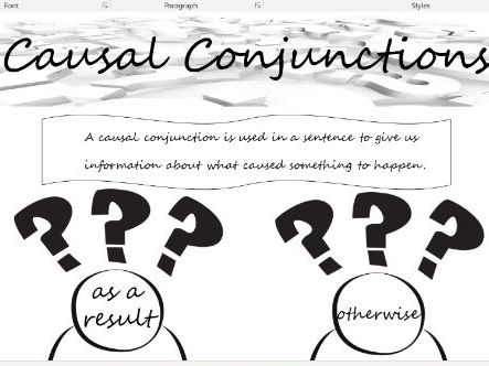 Causal conjunctions