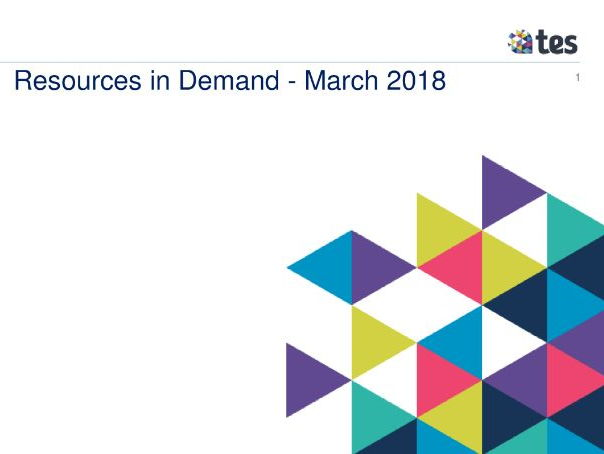 Resources in Demand - March 2018