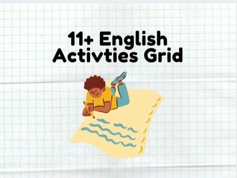 11 Plus English Activities Grid