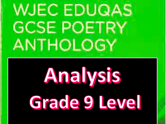 WJEC Eduqas English Literature Poetry Anthology Full Analysis