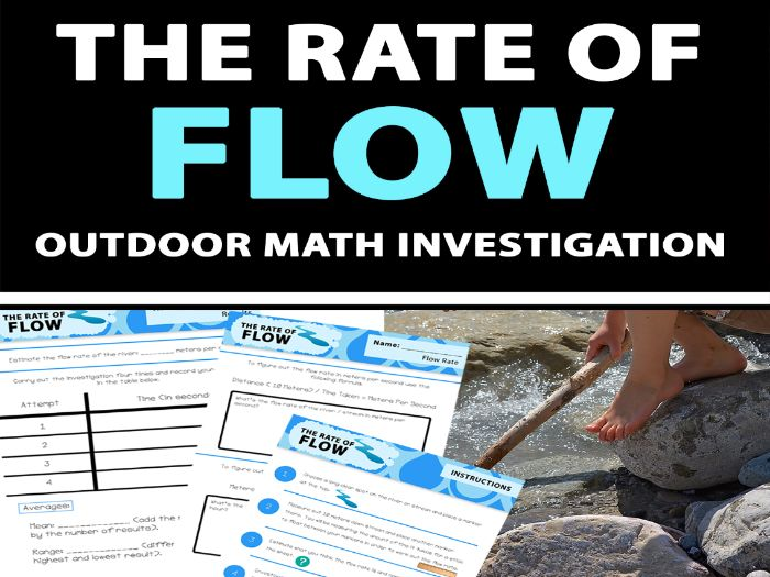 The Rate of Flow - Outdoor Math Investigation